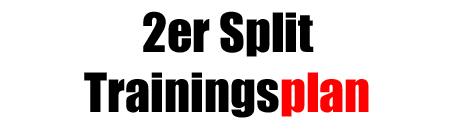 2er-Split Trainingsplan