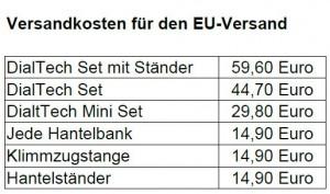 Versandkosten EU
